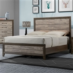 Jaren Bed in Beige/Brown Finish by Crown Mark - CM-B3300-Bed