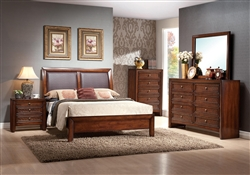 Bali 6 Piece Bedroom Suite in Sun Drenched Finish by Crown Mark - B4080