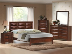 Emily Platform Bed 6 Piece Bedroom Suite in Espresso Finish by Crown Mark - B4230