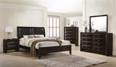 Emily 6 Piece Bedroom Suite in Dark Cherry Finish by Crown Mark - CM-B4260