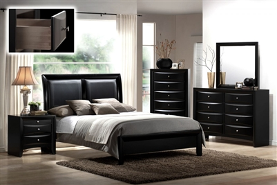 Emily Bed in Black Finish by Crown Mark - CM-B4280-Bed