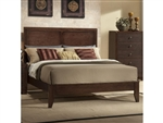 Silvia Bed in Dark Merlot Finish by Crown Mark - CM-B4600-Bed