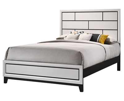 Akerson Bed in Chalk Finish by Crown Mark - CM-B4610-Bed