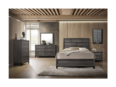Akerson 6 Piece Bedroom Suite in Grey Finish by Crown Mark - CM-B4620