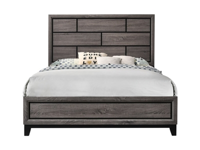 Akerson Bed in Grey Finish by Crown Mark - CM-B4620-Bed