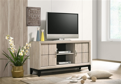 "Akerson 55"" TV Console in Drift Wood Finish by Crown Mark - CM-B4630-8"