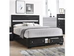 Regata Bed in Black/Silver Finish by Crown Mark - CM-B4670-Bed