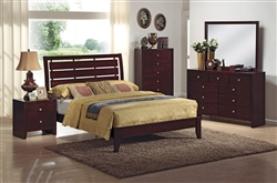 Evan 6 Piece Bedroom Suite in Brown Cherry Finish by Crown Mark - B4700
