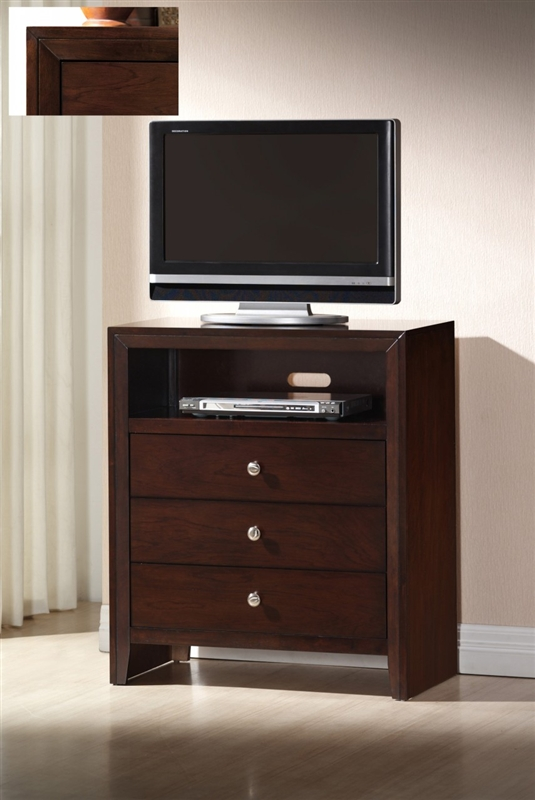 Evan 6 Piece Bedroom Suite in Brown Cherry Finish by Crown Mark ...