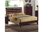 Evan Bed in Brown Cherry Finish by Crown Mark - CM-B4700-Bed