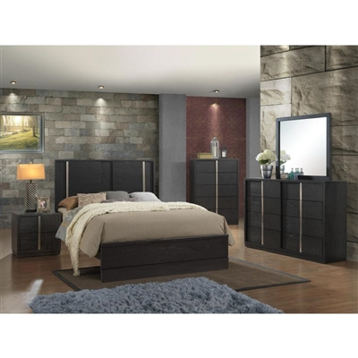Evenson 6 Piece Bedroom Suite in Dark Brown Finish by Crown Mark - CM-B5210