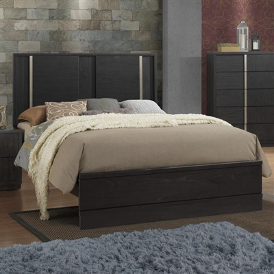 Evenson Bed in Dark Brown Finish by Crown Mark - CM-B5210-Bed