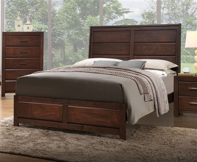 Cambridge Bed in Rich Walnut Finish by Crown Mark - CM-B5400-Bed
