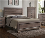 Farrow Bed in Brown/Grey Finish by Crown Mark - CM-B5500-Bed
