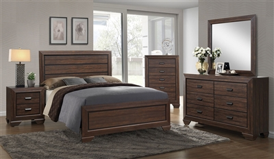 Farrow 6 Piece Bedroom Suite in Chocolate Finish by Crown Mark - CM-B5510