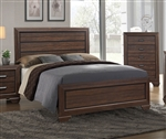 Farrow Bed in Chocolate Finish by Crown Mark - CM-B5510-Bed