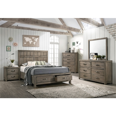 Arcadia 6 Piece Bedroom Suite in Brown Finish by Crown Mark - CM-B5650