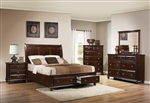 Portsmouth Storage Bed 6 Piece Bedroom Suite in Rich Cherry Finish by Crown Mark - B6075