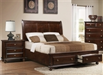 Portsmouth Storage Bed in Rich Cherry Finish by Crown Mark - B6075-Bed