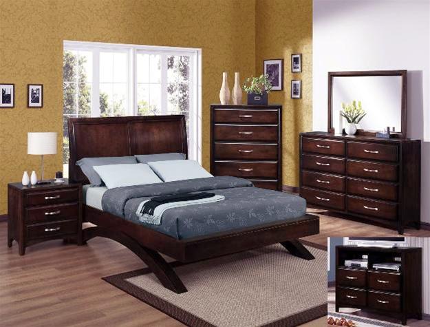 6 Piece Bedroom Suite in Espresso Finish by Crown Mark - B6150