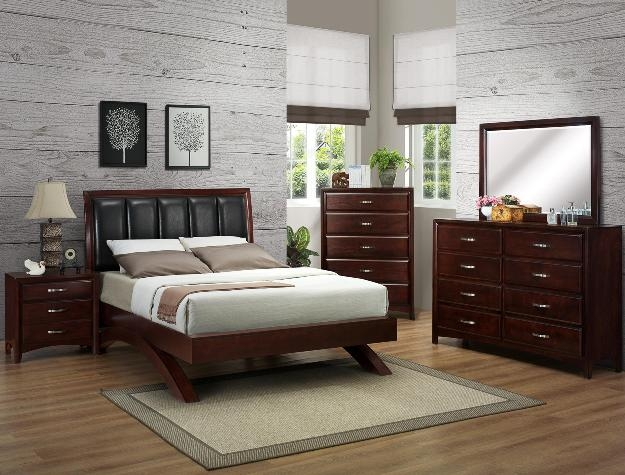Vera 6 Piece Bedroom Suite in Espresso Finish by Crown Mark - B6190