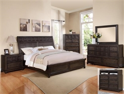Asher 6 Piece Bedroom Suite in Dark Grey Finish by Crown Mark - B8480