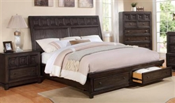 Asher Storage Bed in Dark Grey Finish by Crown Mark - B8485-Bed
