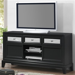 Elisa Entertainment Console in Black Finish by Crown Mark - B9300-8