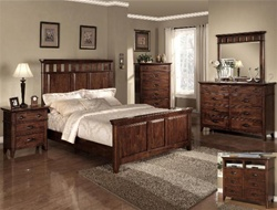 Carmel 6 Piece Bedroom Suite in Cherry Finish by Crown Mark - H8900