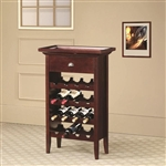 Wine Rack in Cherry Finish by Coaster - 100164