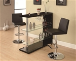 Glossy Black Bar Table by Coaster - 100165
