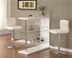 Glossy White Bar Table by Coaster - 100167