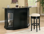 Bar Unit in Black Finish by Coaster - 100175