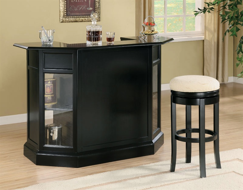 Bar Unit In Black Finish By Coaster 100175