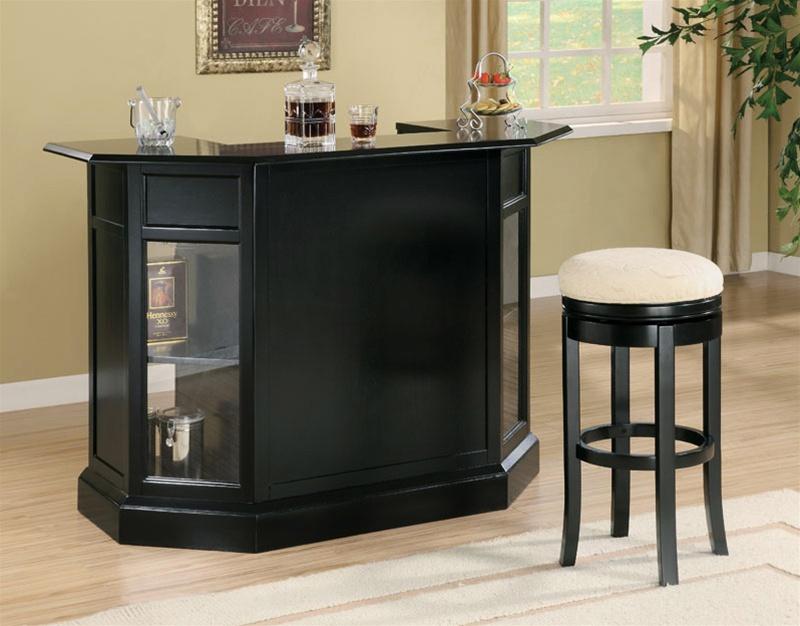 Bar Unit In Black Finish By Coaster 100175