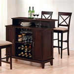 Bar Unit in Cappuccino Finish by Coaster-100218