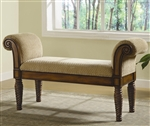 Upholstered Bench with Rolled Arms by Coaster - 100224
