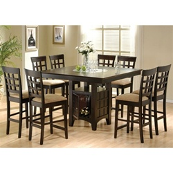 Gabriel 5 Piece Counter Height Dining Set in Cappuccino Finish by Coaster - 100438