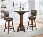 3 Piece Bar Set in Chestnut Finish by Coaster - 100487