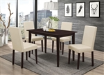 Clayton 5 Piece Dining Table Set in Cappuccino Finish by Coaster - 100491