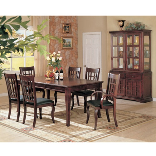 Lovely Newhouse 7 Piece Dining Set In Cherry Finish By Coaster   100500