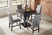 Lampton 5 Piece Counter Height Table Dining Set in Cappuccino Finish by Coaster - 100523-G