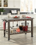 Kitchen Island in Rustic Brown Finish by Scott Living - 100527