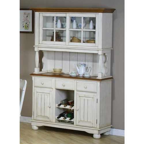 Clic Country Look Buffet Hutch In Creme Pine Finish By Coaster 100604