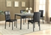 Garza 5 Piece Dining Table Set in Black Finish by Coaster - 100611