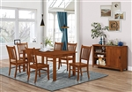 Marbrisa 5 Piece Dining Set in Burnished Oak Finish by Coaster - 100621
