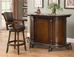 Bar Unit in Warm Brown Cherry Finish by Coaster - 100678