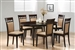 Gabriel 5 Piece Dining Set in Cappuccino Finish by Coaster - 100770-U