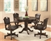 Bumper/Poker/Dining 5 Piece Table Set in Brown Cherry Finish by Coaster -100871