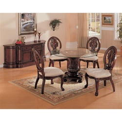 Tabitha 5 Piece Dining Set in Rich Cherry Finish by Coaster - 101030